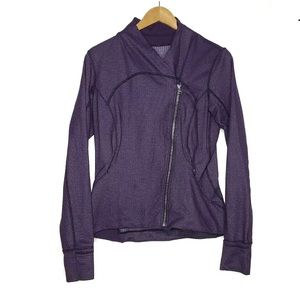 Lululemon Side Zip Purple Full Zip Jacket Size 10